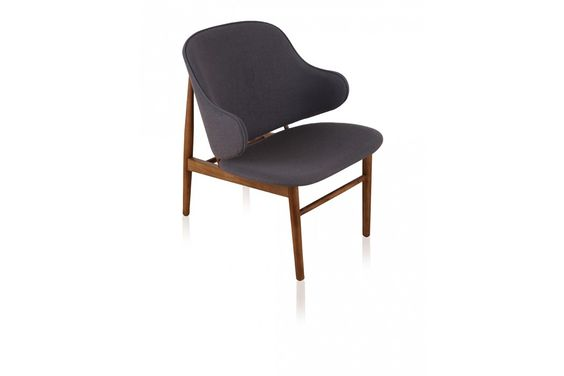 Gustave Mid Century Modern Lounge Chair Grey - Lounge Chairs - Living