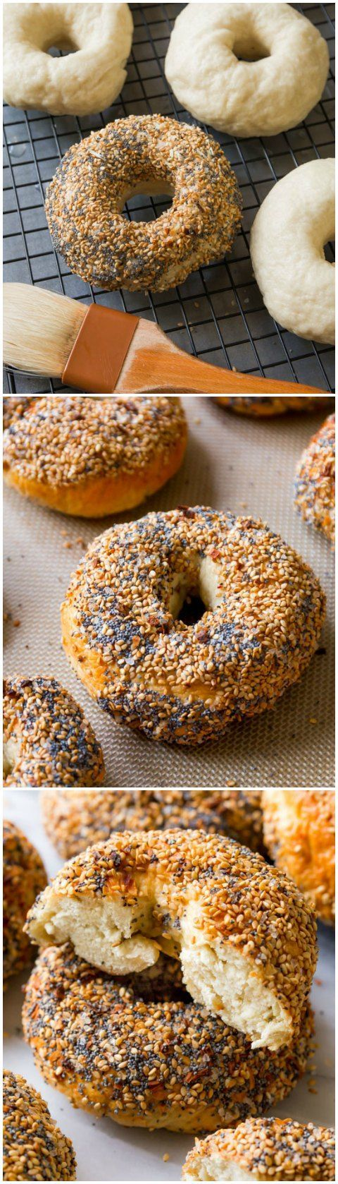 Here's exactly how to make homemade bagels! With TONS of step-by-step photos!