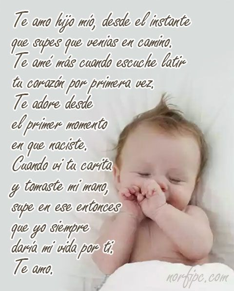 Frases Y Poemas Sobre El Amor Por Los Hijos Frases Para Hijos Frases Para Hijos Varones Frases Para Hijos Bebes