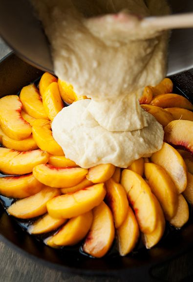 peach upside down cake recipe - This is going to happen this summer!:
