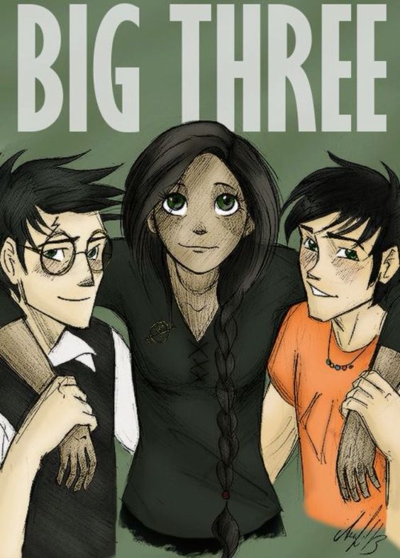 Harry Potter, Percy Jackson, Katniss Everdeen. This is perfect. All of them and their jet black hair!