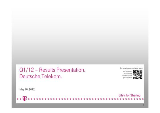 deutsche-telekom-q12012-results by Deutsche Telekom - Investor Relations via Slideshare