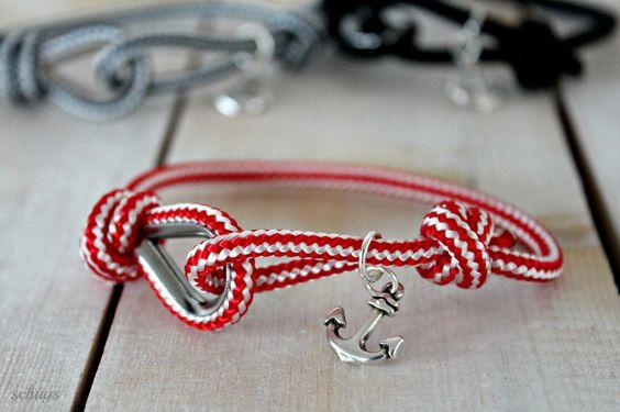 Ahoi-Armband aus Seemannstampen von schuys auf DaWanda.com