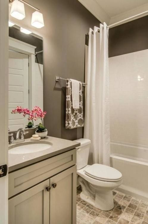 Very Small Full Bathroom Ideas You Are In The Right Place About Pink Bathroom Here We Offer You The Mo In 2020 Bathroom Color Small Bathroom Remodel Bathroom Colors
