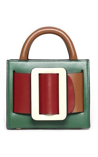 Shop Bobby 16 Color Block Leather Bag Boyy S Bobby 16 Bag Is Constructed In A Box Silhouette With A Color Block Design Dual Top H Boyy Bag Buckle Bags Boyy