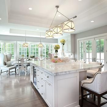 Grosvenor Linear Triple Pendant Transitional Kitchen Elizabeth Kimberly Design Kitchen
