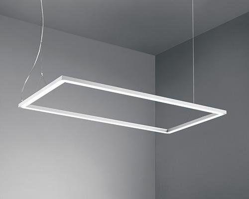 Luci Al Neon Per Ufficio.Lampada Rettangolare A Sospensione Degas Lampade Illuminazione