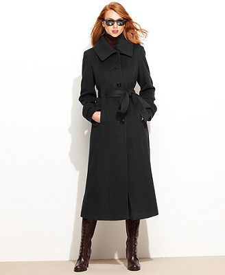 Full-length Wool-Cashmere-Blend Winter Coat - Macy's FA13