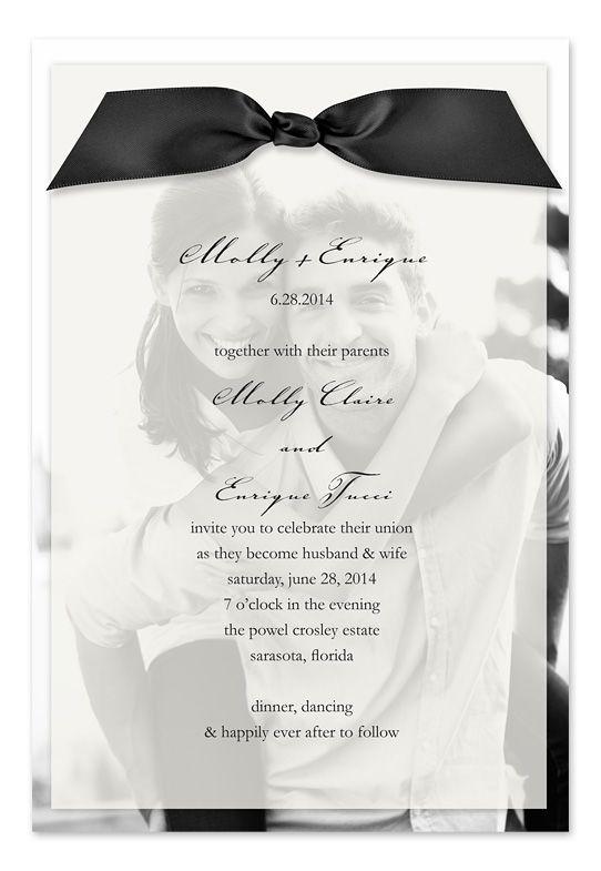 Cute wedding invitation idea. Love the picture in the background!