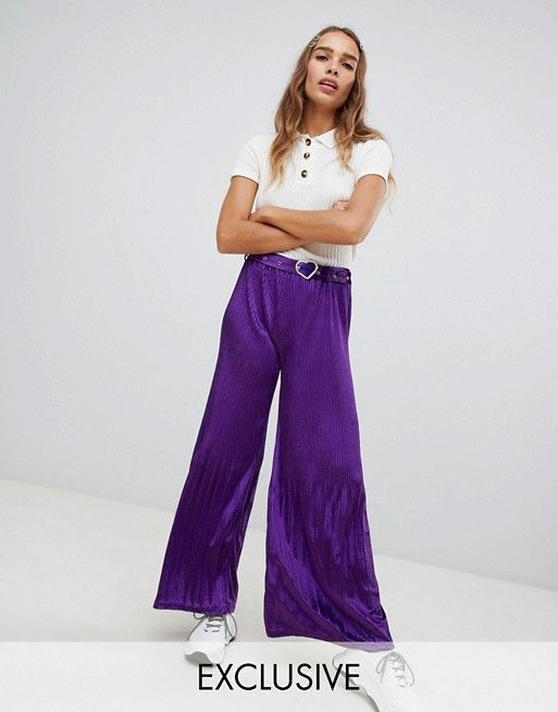 Cli Cli By Clio Peppiatt flared pants in velvet