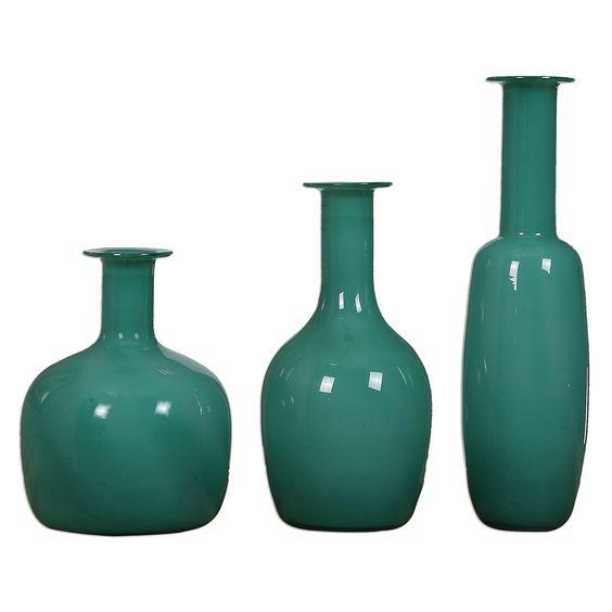 Uttermost Baram Turquoise Vases