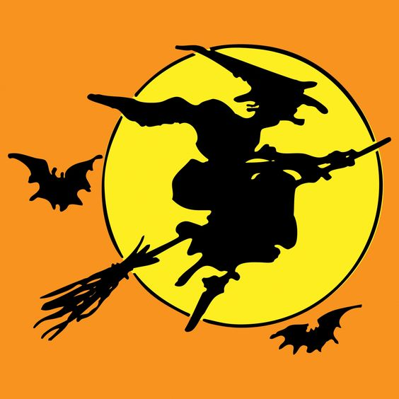 Halloween Witch On Broomstick Free Stock Photo - Public ...