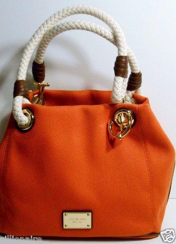 525cf0d6361a michael kors red canvas purse saffiano satchel - Marwood ...