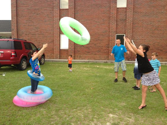 this could be a really fun camp game! human ring toss