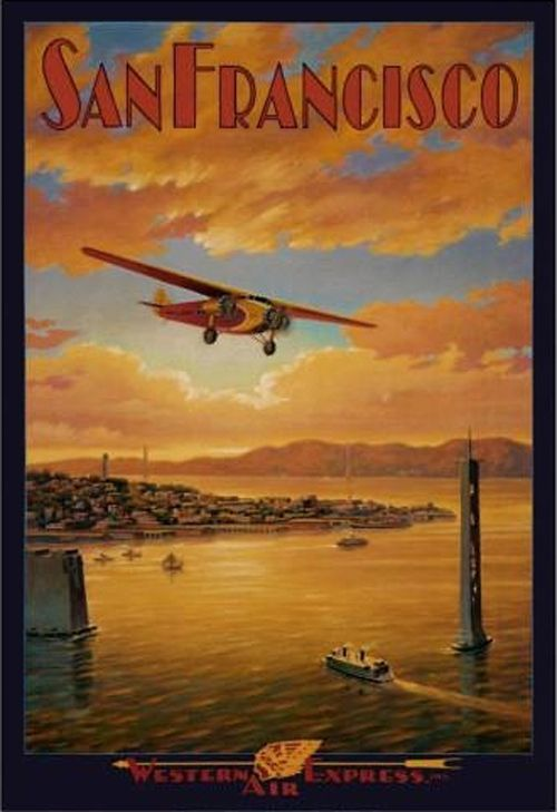 Western Express Air | Beautiful Vintage San Francisco Travel Posters