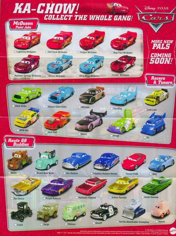 Mattel Disney Pixar CARS Diecast Website & Poster Take