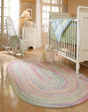 Pink Amp Blue Round Baby Nursery Area Rug Nursery Baby