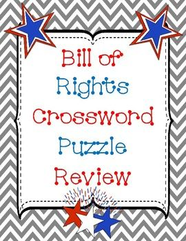 Bill Of Rights Crossword Puzzle Review Crossword Puzzles Bill