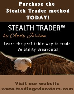 Stealth Trader Method. An important fact you should know about the method is that it stays VERY stable in regard to the variables implemented in the method.  I have seen many other methods that require continual adjustment of the variables. Find out more, go to http://www.tradingeducators.com/ebook/stealthtrader/