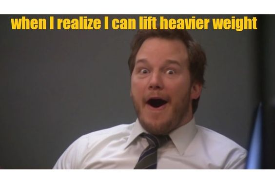 Lifting heavier weights every single week:)