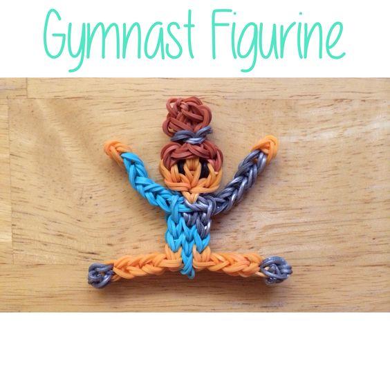 TutorialsByA's Rainbow Loom Gymnast Figurine (no pattern or tutorial used)