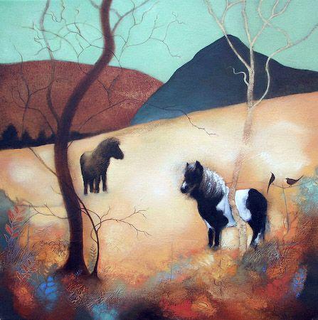 Four Friends ~ Scottish artist Lesley McLaren: