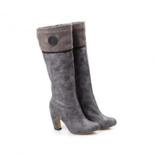 ALTA-01 Women High Heel Knee High Boots - Light Grey