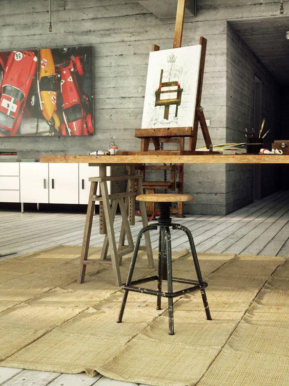 painter loft by Enrico Cerica