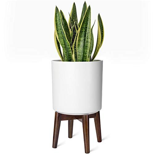 Mkono Plant Stand Mid Century Rustic Plant Stand Indoor Plant Pot Not Included Modern Flower Pot Hold In 2020 Rustic Plant Stand Plant Stand Indoor Indoor Plant Pots