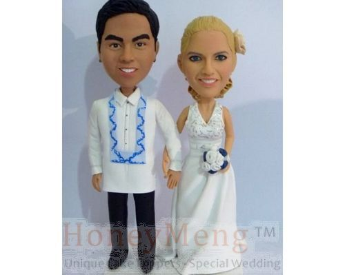 Buy Custom Cake Toppers head to toe personalized cake topper made from photo-1673 by honeymeng. Explore more products on http://honeymeng.etsy.com
