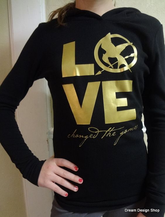 LOVE changed the game.... hunger games shirt, so cute!