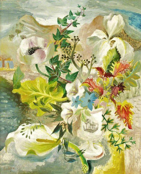 Sicilian Flowers, 1949 by Mary Fedden (British, 1915-2012):