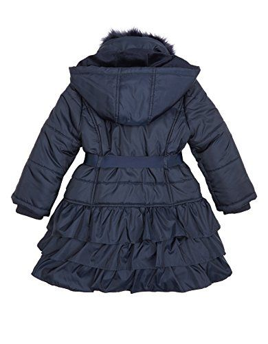 Monsoon Little Girls Molly Coat Size 5-6 Years Navy | Girls