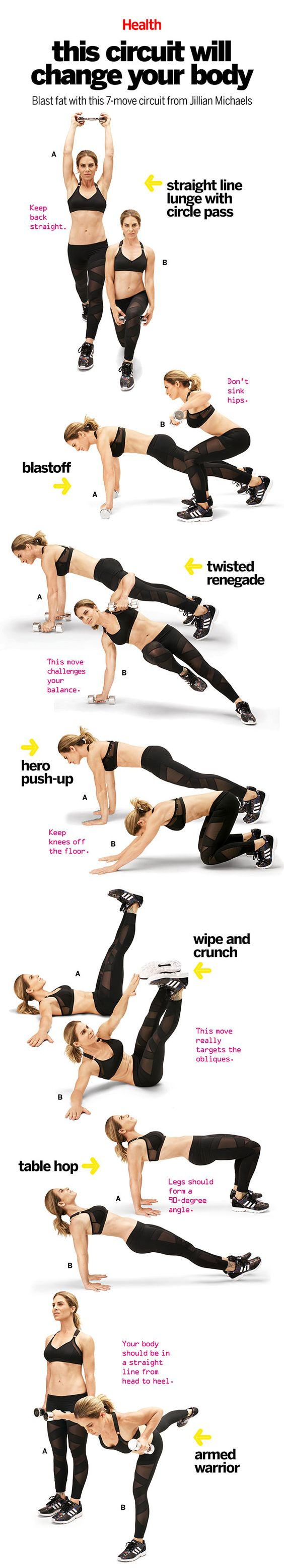 It's not much of a stretch to say that nobody knows how to build power, speed, strength, and flexibility better than Jillian Michaels. This comprehensive workout, which she created for Health, trains the muscles in a way that will bust through even the most persistent plateau. | Health.com