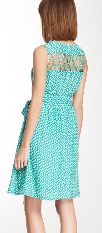 Lattice back dress.