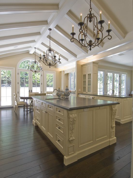 Kitchen painting rooms with cathedral ceilings design for Country kitchen paint ideas
