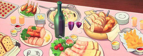 Party food, Log Horizon, Episode 6.