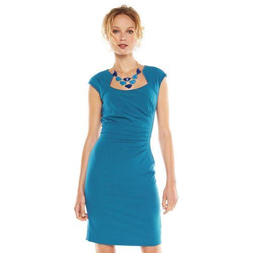 Dana Buchman Pleated Sheath Dress - Women&39s  Life at Work ...