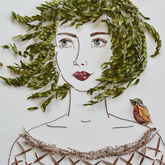 """Greta"" Flower Face Print:"