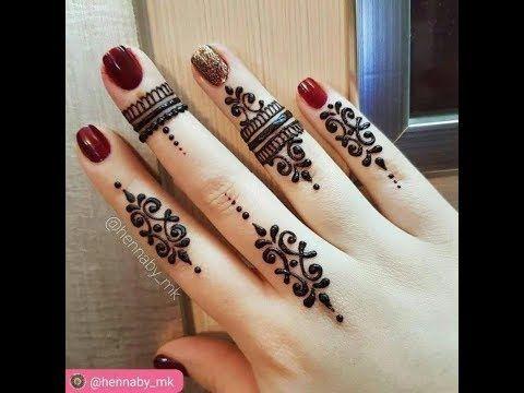 ارق رسومات حنه خليكي عروسه دايما Youtube Henna Tattoo Hand Henna Designs Hand Finger Henna Designs