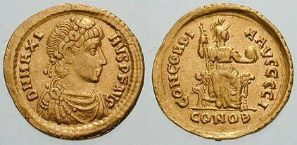 Emperor Magnus Maximus dies on the 28th of August in 388 CE Photo: Classical Numismatic Group, Inc.