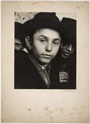 Jewish Life in Eastern Europe, ca. 1935-38 | Roman Vishniac Archive Students gathering outside the yeshiva of Rabbi Baruch Rabinowitz, Mukacevo