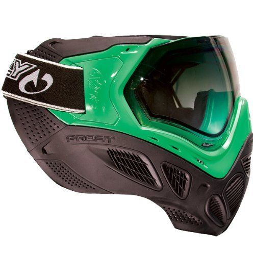Sly Profit Paintball Mask Goggles - Black / Neon Green by Sly. $99.95. Description With over 2 years of design, testing, and evolution, the PROFIT Goggle system has arrived. Exceeding all the demands of the modern competitive player, the PROFIT goggle combines an optically perfect thermal gradient lens with the most comfortable frame and mask ever developed. The dual pane thermal lens of the Sly Profit mask is very easy to pop in or to take out. Sly has made a v...