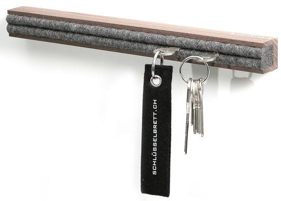 www.schluesselbrett.ch ein schlichtes Profil mit design Filz zur Schlüsselaufbewahrung