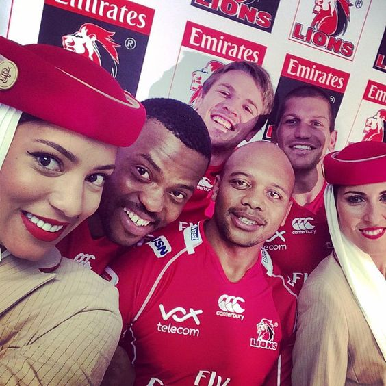 Welcome onboard, #EmiratesLions. We are the new title sponsor of the Lions Super Rugby Team in South Africa which will now be known as the Emirates Lions. In a 5-year sponsorship agreement, Emirates will also have naming rights to the Lions home ground Ellis Park in Johannesburg. #emiratesairline #hellotomorrow #sports #rugby #southafrica #SuperRugby @superrugby #selfie #crewfie #crewlife #lions4life #johannesburg