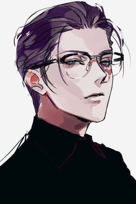 Manga Illustration Guys Digital Illustration In 2020 Anime Guys With Glasses Manga Illustration Anime Art