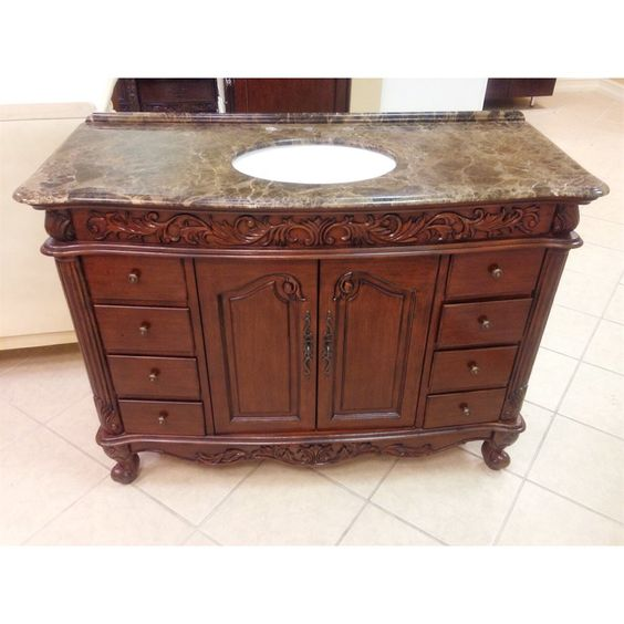 Shop B&I Direct Imports B&I Direct Imports 1080BR Erin 48-in Single Bathroom Vanity Set at ATG Stores. Browse our bathroom vanities, all with free shipping and best price guaranteed.