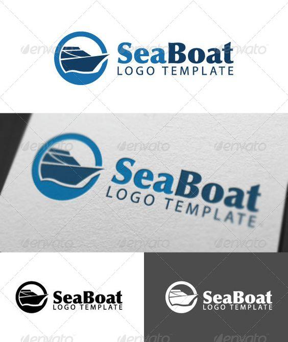 Sea Boat Logo Template