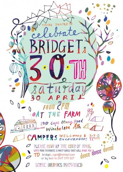 By Letitia Buchan #invitation #color #typography