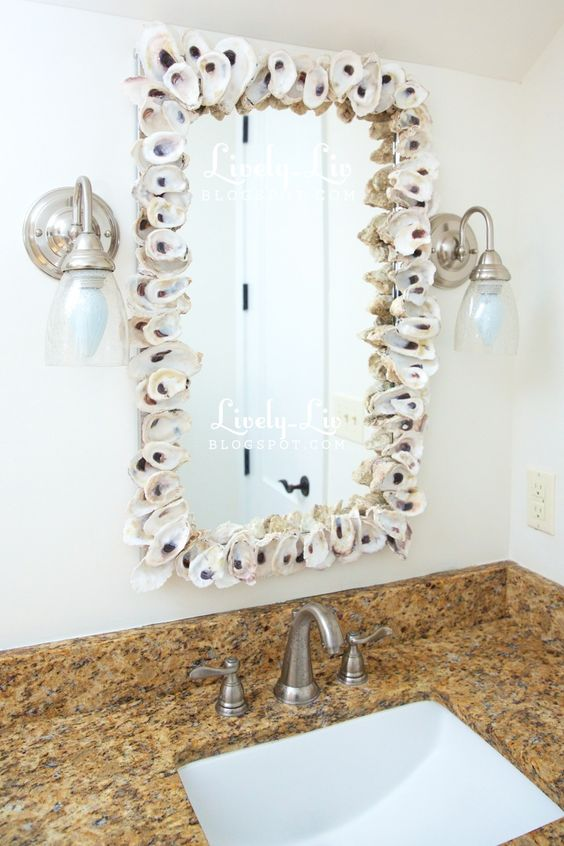 Lively Liv: {diy project: oyster shell mirror}
